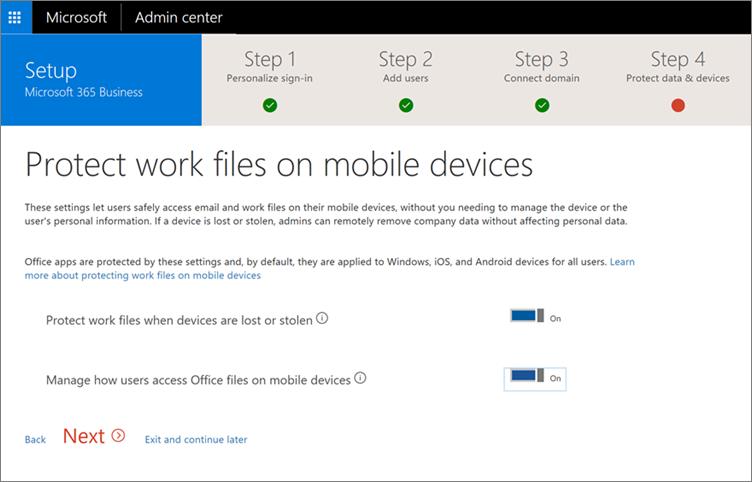 Petikan skrin melindungi fail kerja pada halaman peranti mudah alih anda