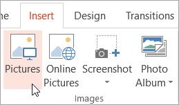 Butang gambar pada tab selitkan