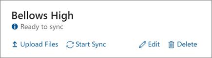 Petikan skrin opsyen profil lengkap pada papan pemuka penyegerakan Data sekolah, termasuk opsyen untuk memulakan penyegerakan