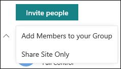 Menjemput individu ke laman SharePoint anda
