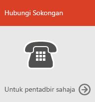 Hubungi sokongan (untuk pentadbir sahaja)