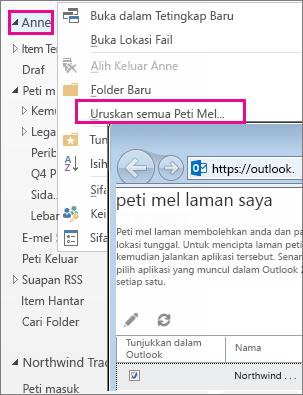 Menguruskan peti mel laman