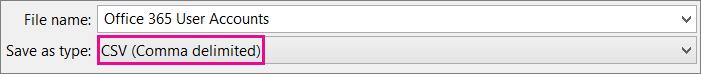 Imej cara untuk menyimpan fail pada Excel dalam format CSV