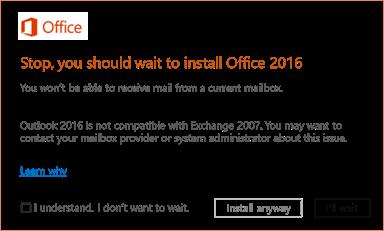 Ralat: Berhenti, anda perlu menunggu untuk memasang Office 2016