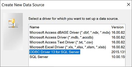 Mencipta kotak dialog sumber Data baru