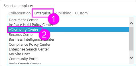 Templat koleksi laman pada Enterprise tab