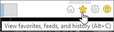 Butang Internet Explorer suapan