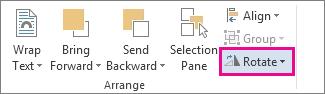 Perintah Putar pada tab Format Alat Melukis