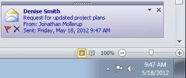 Isyarat Desktop Outlook