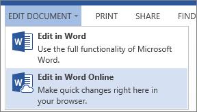 Edit dalam Word Online