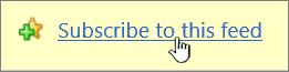 Melanggan pautan suapan ini dalam Internet Explorer