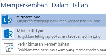 Mempersembahkan Dalam Talian dengan Microsoft Lync