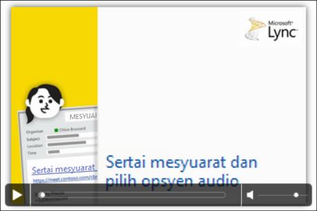Petikan skrin slaid PowerPoint dengan kawalan video