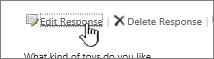 Edit respons pautan dalam respons tinjauan pengguna