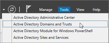 Pilih Domain dan Kepercayaan Active Directory.