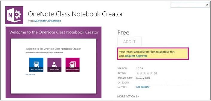 Petikan skrin halaman butiran aplikasi dengan pautan Permintaan Aplikasi diserlahkan