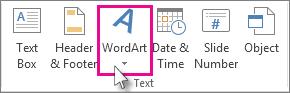 Klik untuk menambah WordArt