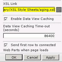 Pautan fail XSL ditampalkan dalam