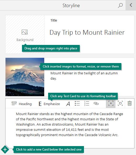 Menambah imej dan teks pada jalan cerita
