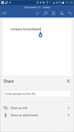 Dialog kongsi membantu anda menjemput orang lain untuk mencapai fail anda.