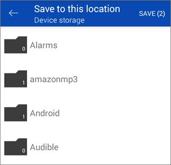 Simpan fail dari OneDrive