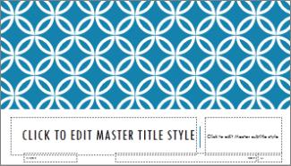 Tataletak Slaid Tajuk Sepadu dalam PowerPoint