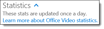 Statistik Video Office 365