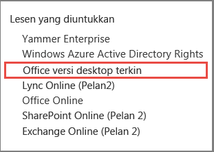 Office versi desktop terkini