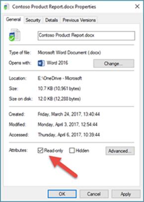 Kosongkan tanda kotak baca sahaja untuk mengedit dan menyimpan fail anda.