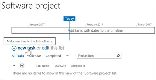 Tugas garis masa, klik baru + untuk menambah tugas
