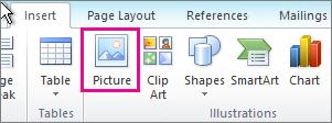 Selitkan Gambar Office 2010