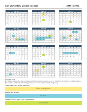 Templat kalendar