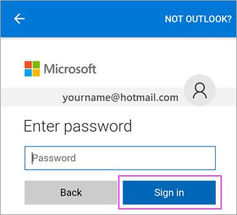 Masukkan kata laluan untuk akaun e-mel anda.