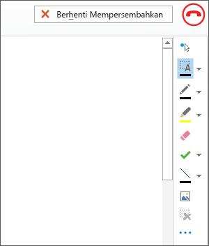 Petikan skrin papan putih dalam mesyuarat