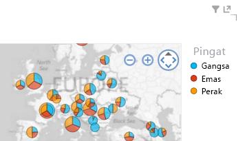menggunakan warna pada penggambaran peta Power View