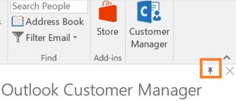PIN ikon n bahagian atas kanan sudut aplikasi