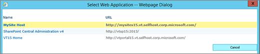 Pilih aplikasi web daripada halaman aplikasi web ubah