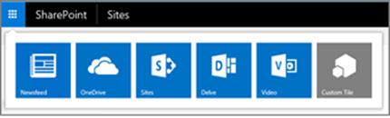 Pelancar aplikasi hibrid pada laman SharePoint Server