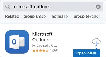 Ketik ikon awan untuk memasang Outlook