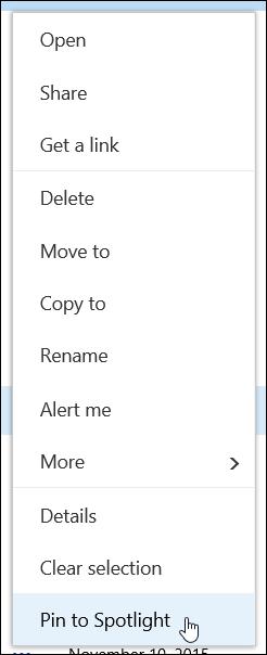 PIN item untuk tumpuan dalam pustaka dokumen