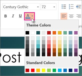 Pilih warna untuk teks anda
