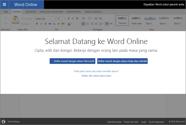 Welcome to Word Online, where you can create, view, and edit documents in a browser