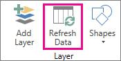 Segar Semula Data pada tab Rumah