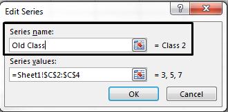 Taipkan nama petunjuk ke dalam kotak teks Nama siri dan klik OK.