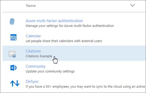 Pusat Pentadbiran Office 365 digunakan tambahan