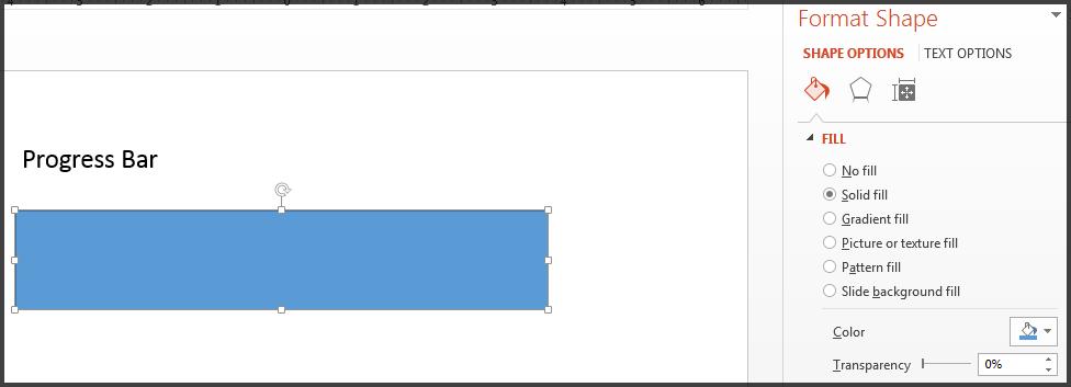 Bar Kemajuan dengan isian biru.