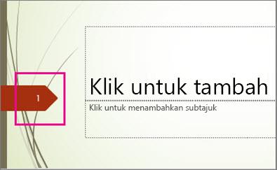 Tema Wisp dengan nombor slaid