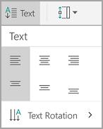 Penjajaran teks Jadual Android