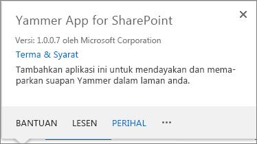 Aplikasi Yammer untuk SharePoint