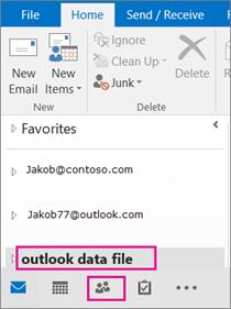 Outlook menambah fail .pst anda dengan nama generik: fail data outlook.